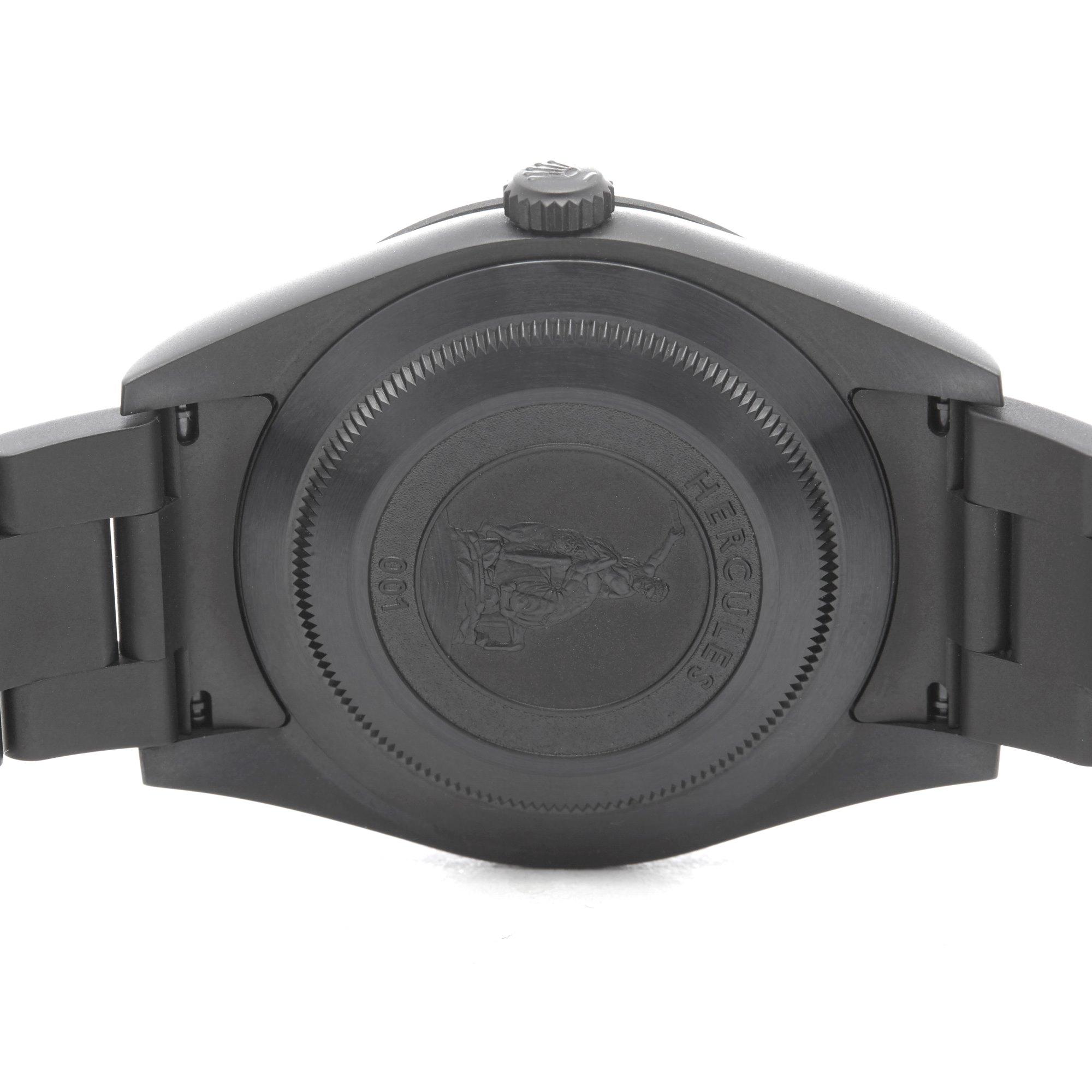 Rolex Explorer I Hercules Skull Dlc Coated Stainless Steel 214270