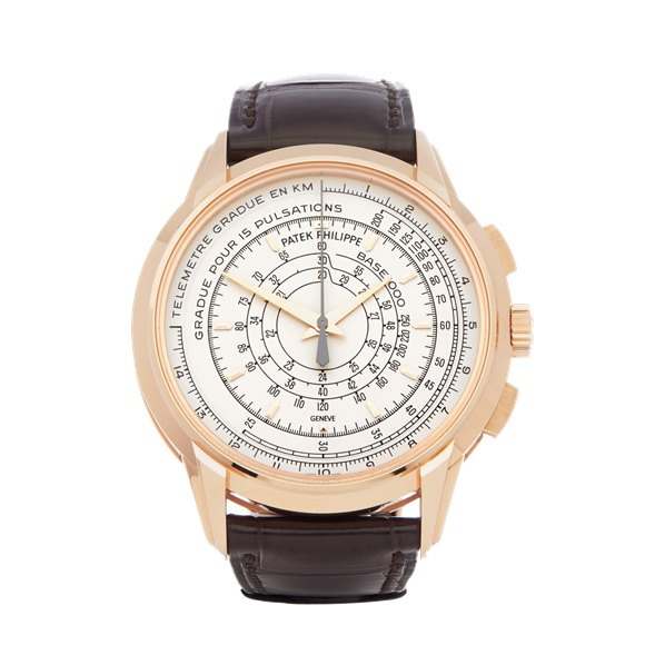 Patek Philippe Multi-Scale Chronograph Eric Clapton's 175th Anniversary Watch 18k Rose Gold - 5975R-001