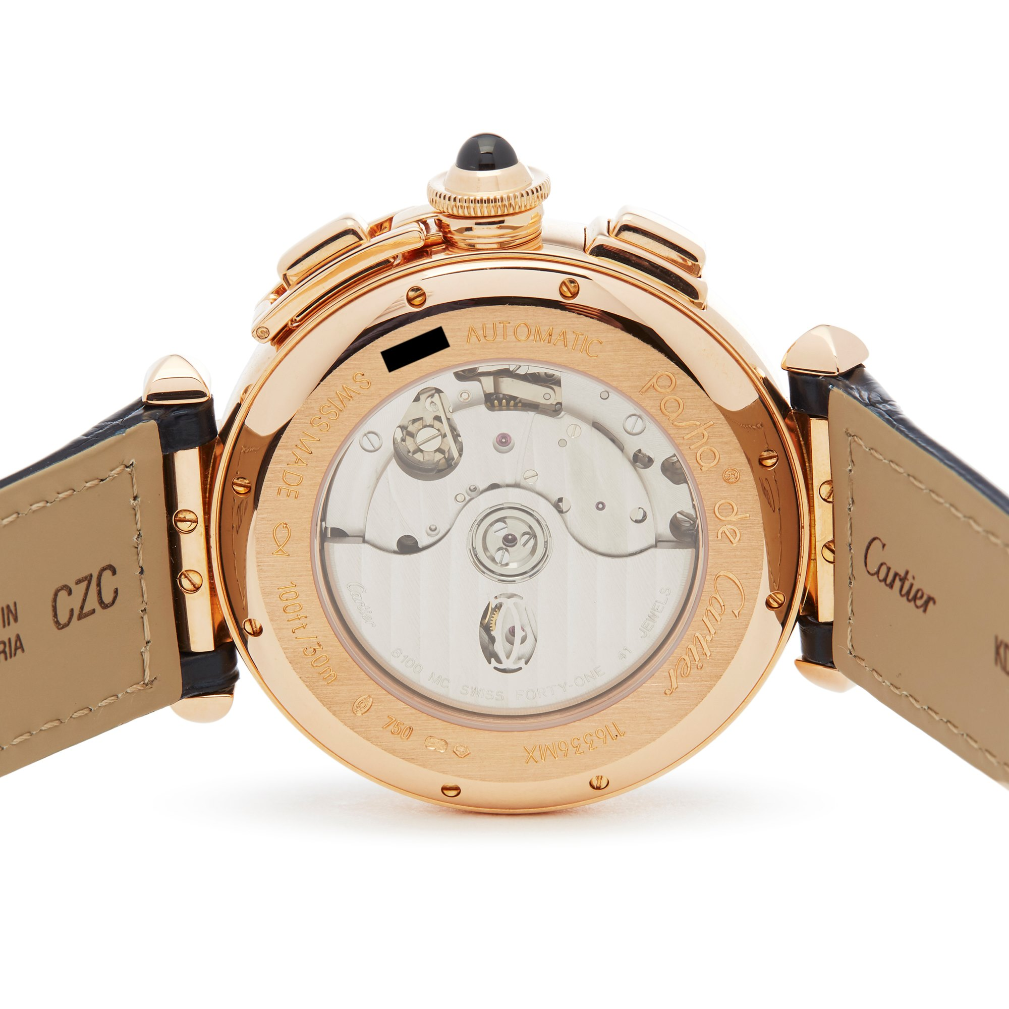 Cartier Pasha de Cartier Chronograph 18K Rose Goud W3019951 or 2863