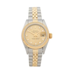 Rolex DateJust 26 Diamond Stainless Steel & Yellow Gold - 69173G