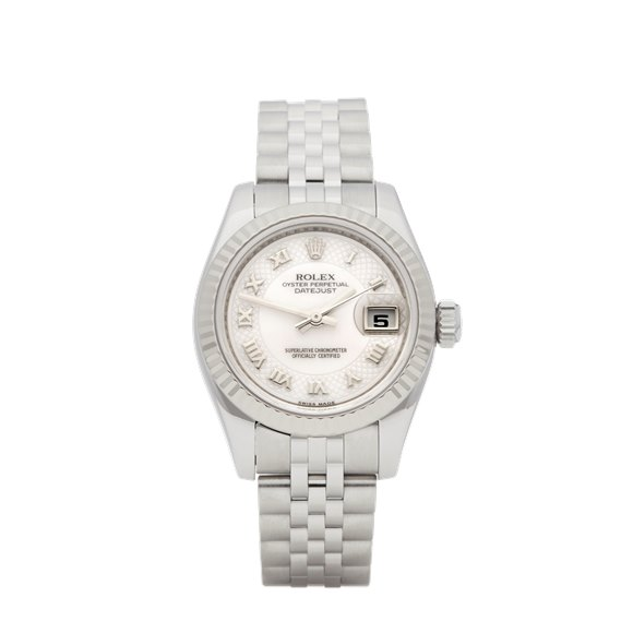 Rolex DateJust 26 Mother Of Pearl Stainless Steel & White Gold - 179174