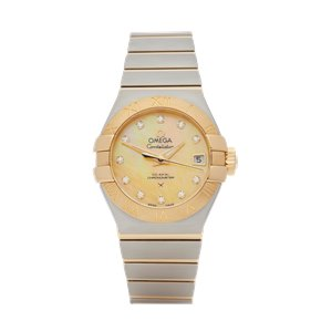 Omega  Diamond Stainless Steel & Yellow Gold - 123.20.27.20.57.002