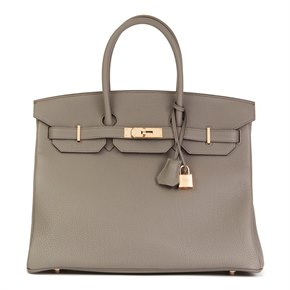 Hermès Etain Togo Leather Birkin 35cm