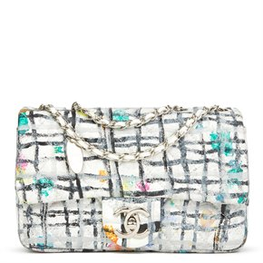 Chanel Multicolour Hand-painted Quilted Lambskin Graffiti Mini Flap Bag
