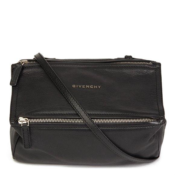 Givenchy Black Goatskin Leather Pandora Crossbody