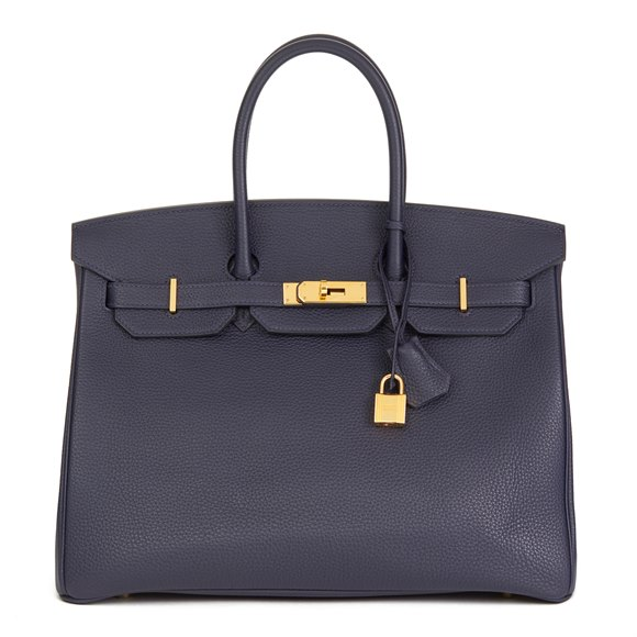Hermès Blue Nuit Togo Leather Birkin 35cm