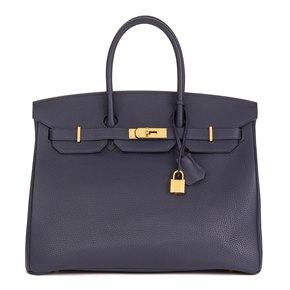 Hermès Blue Nuit Togo Leather Birkin 35cm