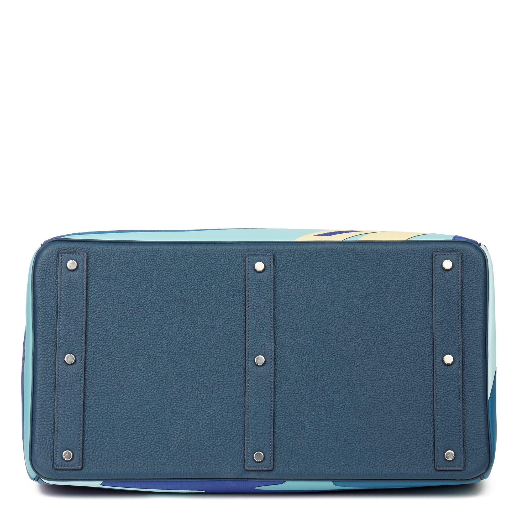 Hermès Bleu de Prusse Togo & Swift Leather Endless Road Birkin HAC 50cm