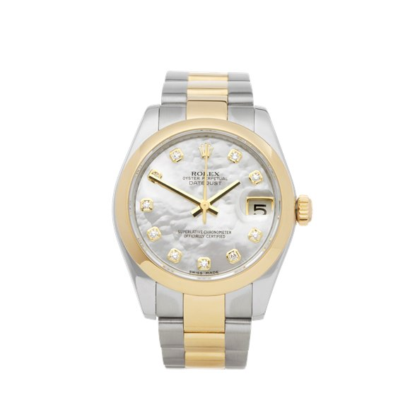 Rolex Datejust 31 Mother of Pearl Diamond Stainless Steel & Yellow Gold - 178243