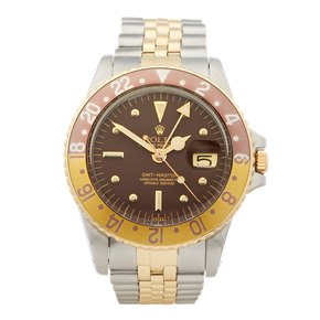 Rolex GMT-Master Root Beer Nipple Dial Stainless Steel & Yellow Gold - 1675