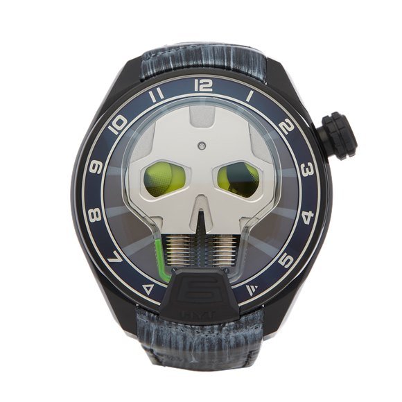 HYT H1 Skull Green Eye Dlc Coated Titanium - 151-TD-41-GF-AB
