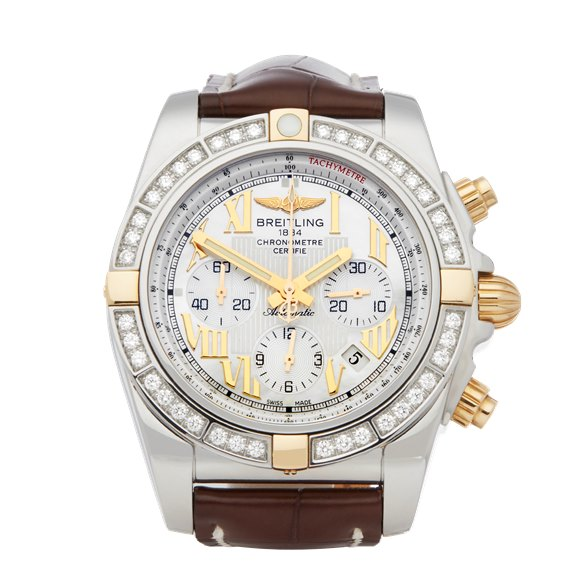 Breitling Chronomat 44 Diamond Chronograph Stainless Steel & Yellow Gold - IB011053
