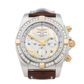 Breitling Chronomat 44 Diamond Chronograph Stainless Steel & Yellow Gold - IB011053