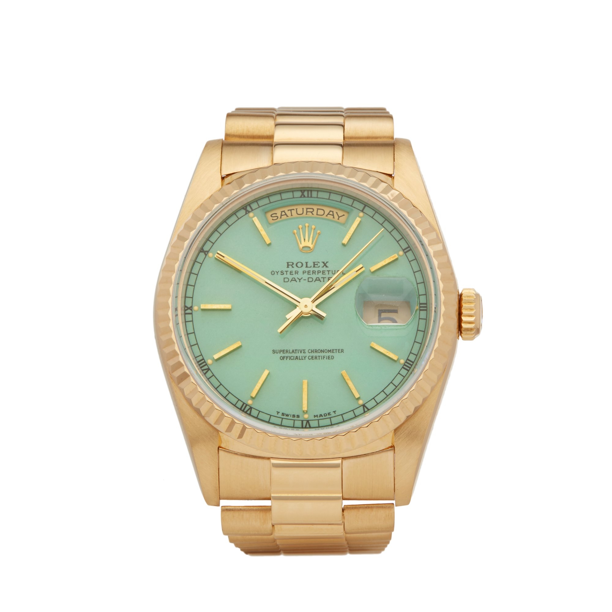 Rolex Day-Date 36 Stella Dial 18k Yellow Gold 18238