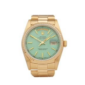 Rolex Day-Date 36 Stella Dial 18k Yellow Gold - 18238
