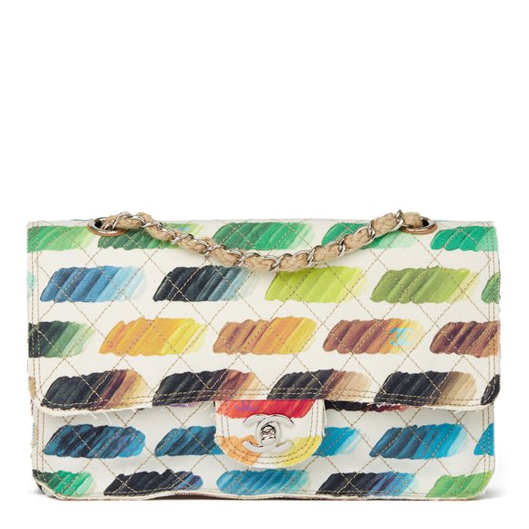 Chanel Multicolor Quilted Canvas Watercolour Colorama Flap Bag