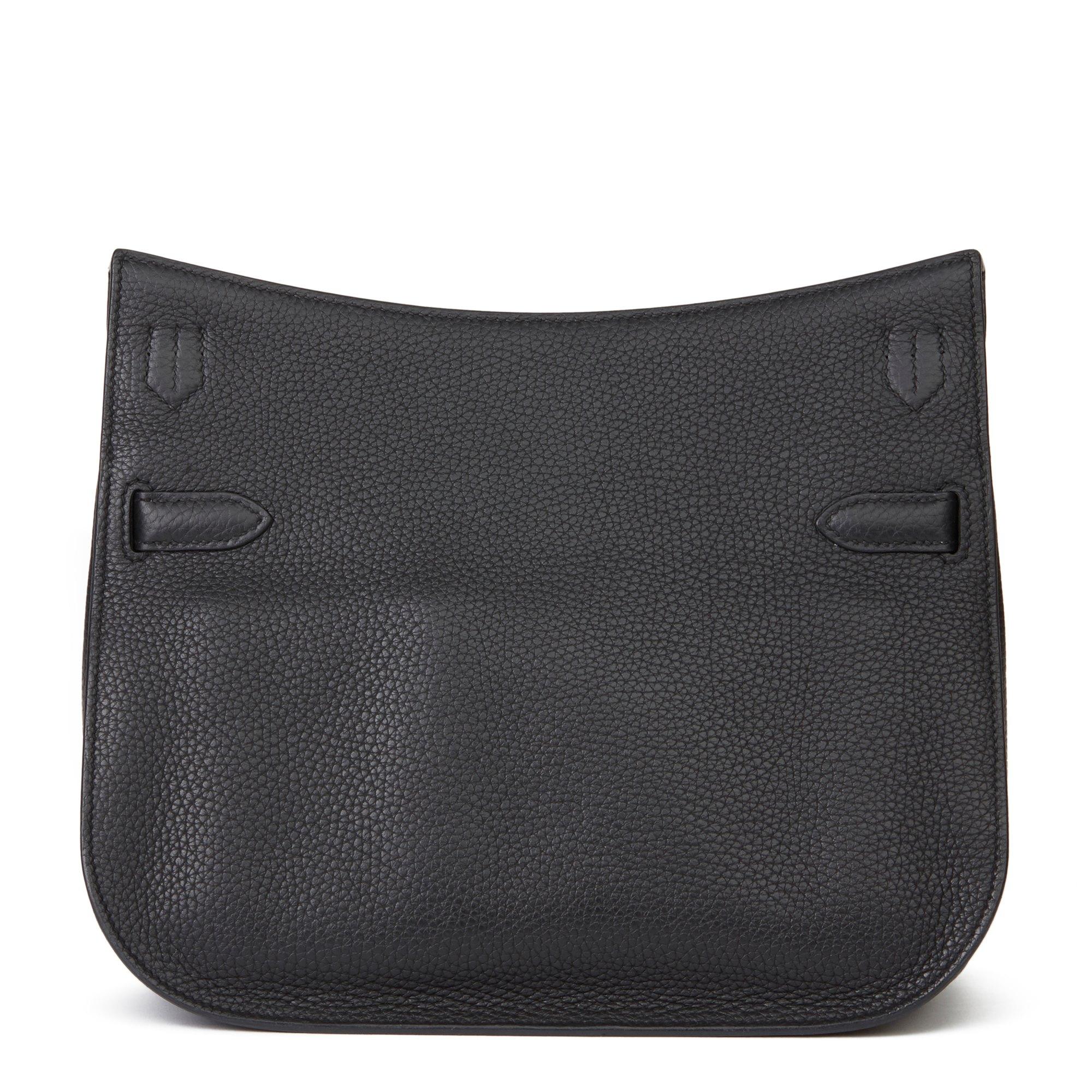 Hermès Black Clemence Leather Jypsiere 29cm
