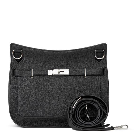 Hermès Black Clemence Leather Jyspiere 29cm