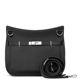 Hermès Black Clemence Leather Jypsiere 29cm