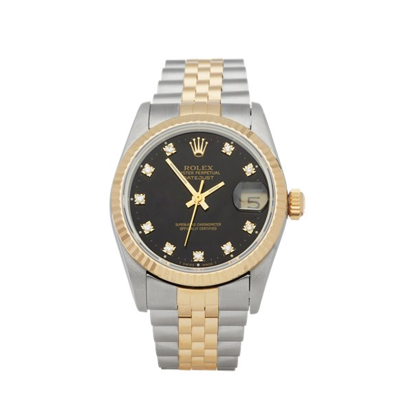 Rolex DateJust 31 Diamond Stainless Steel & Yellow Gold - 68273