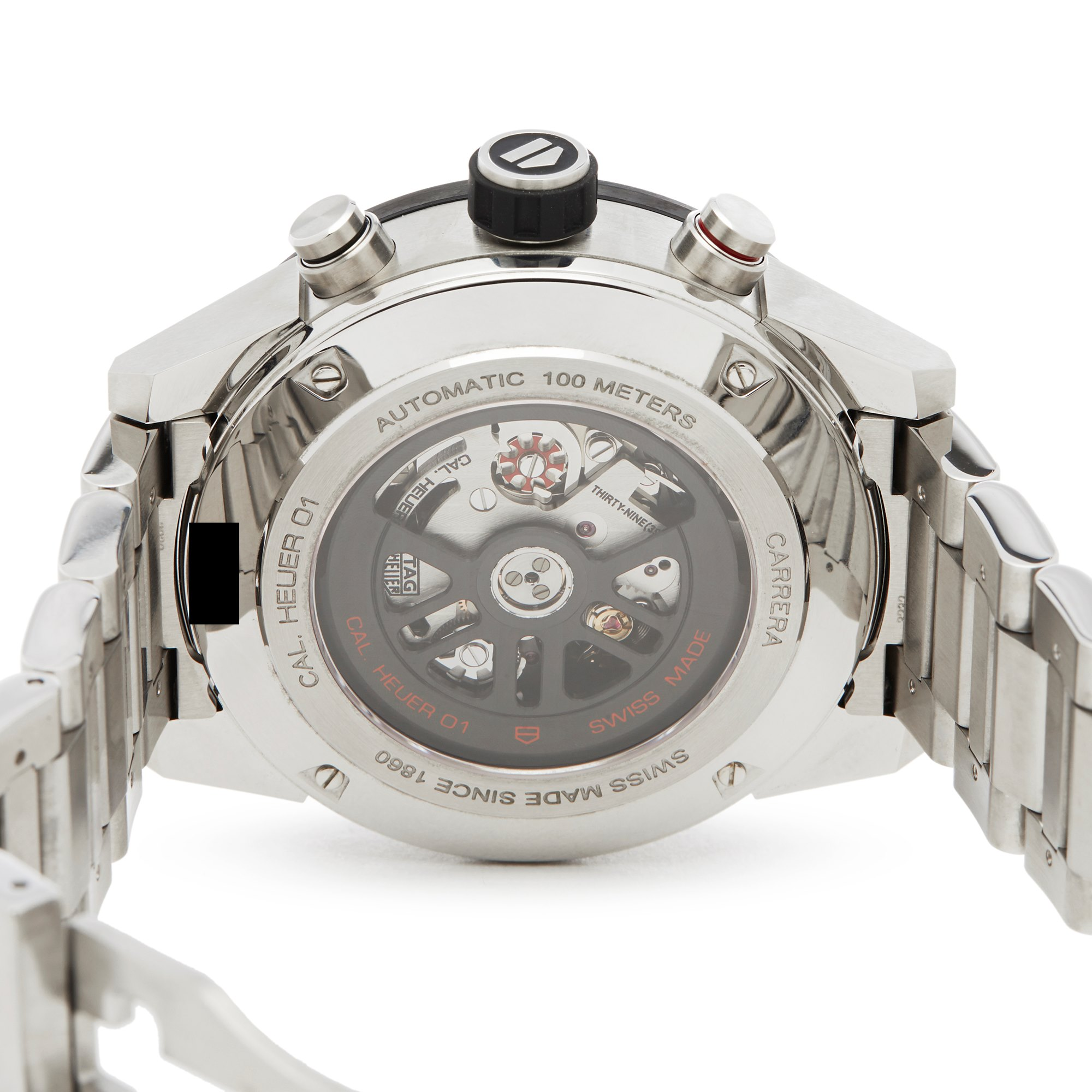 Tag Heuer Carrera Calibre 1 Chronograph Roestvrij Staal CAR2A1W-0