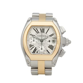 Cartier Roadster XL Chronograph Stainless Steel & Yellow Gold - 2618