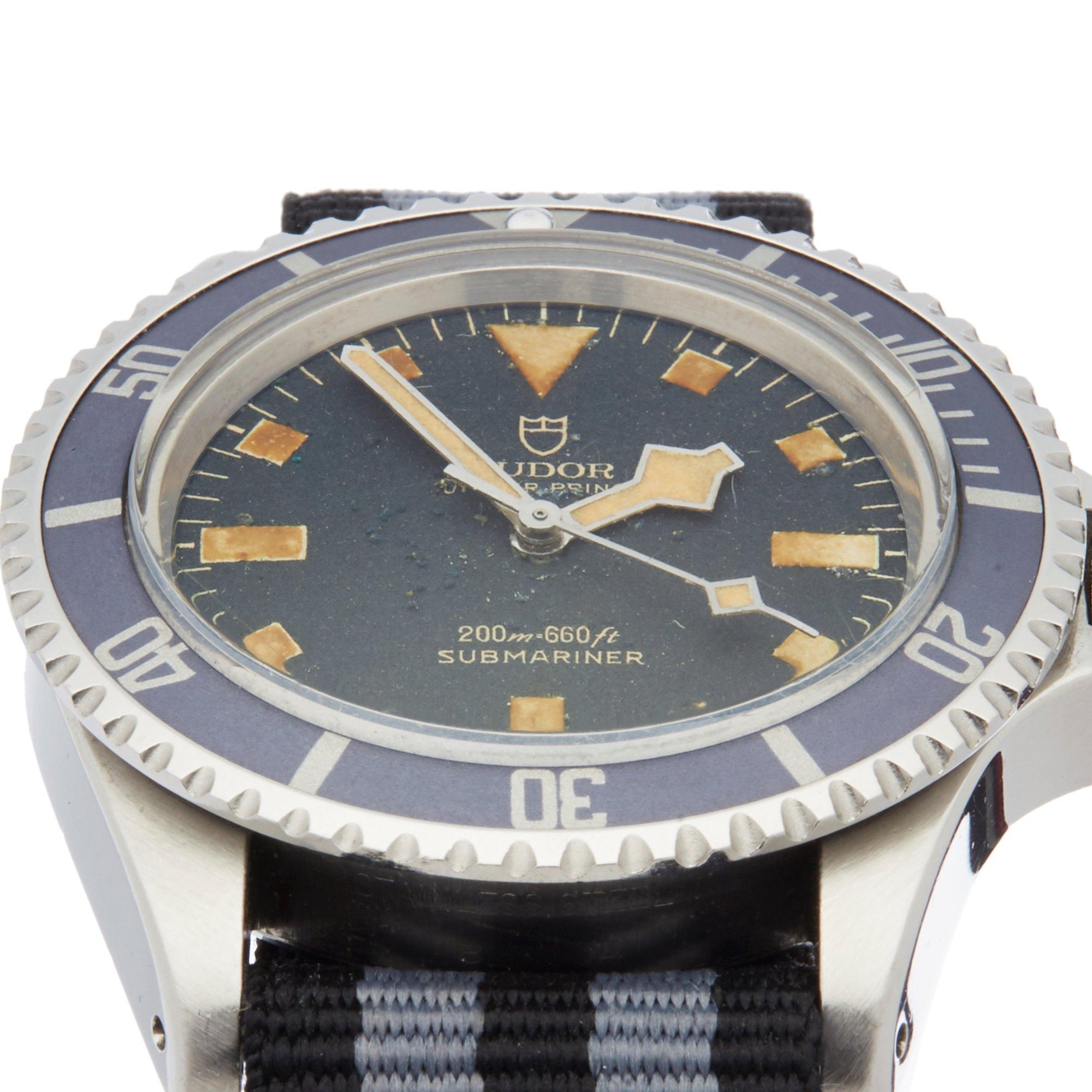 Tudor Submariner Gilt Snowflake Stainless Steel 7016