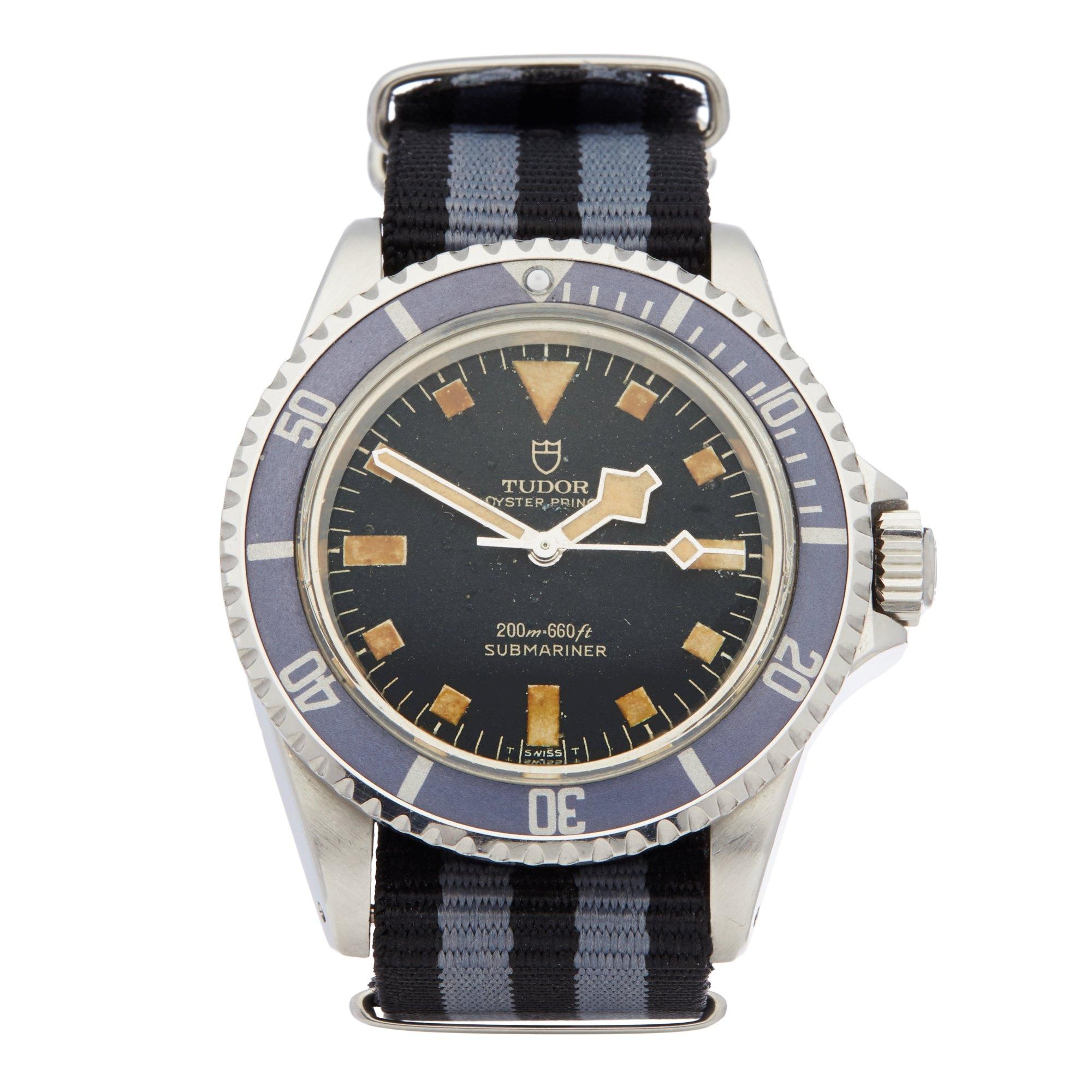 Tudor Submariner Gilt Snowflake Pcg Stainless Steel 7016