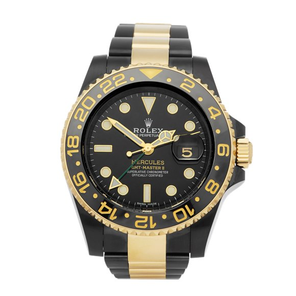 Rolex GMT-Master II Hercules Dlc Coated Stainless Steel & 18K Yellow Gold - 116713LN