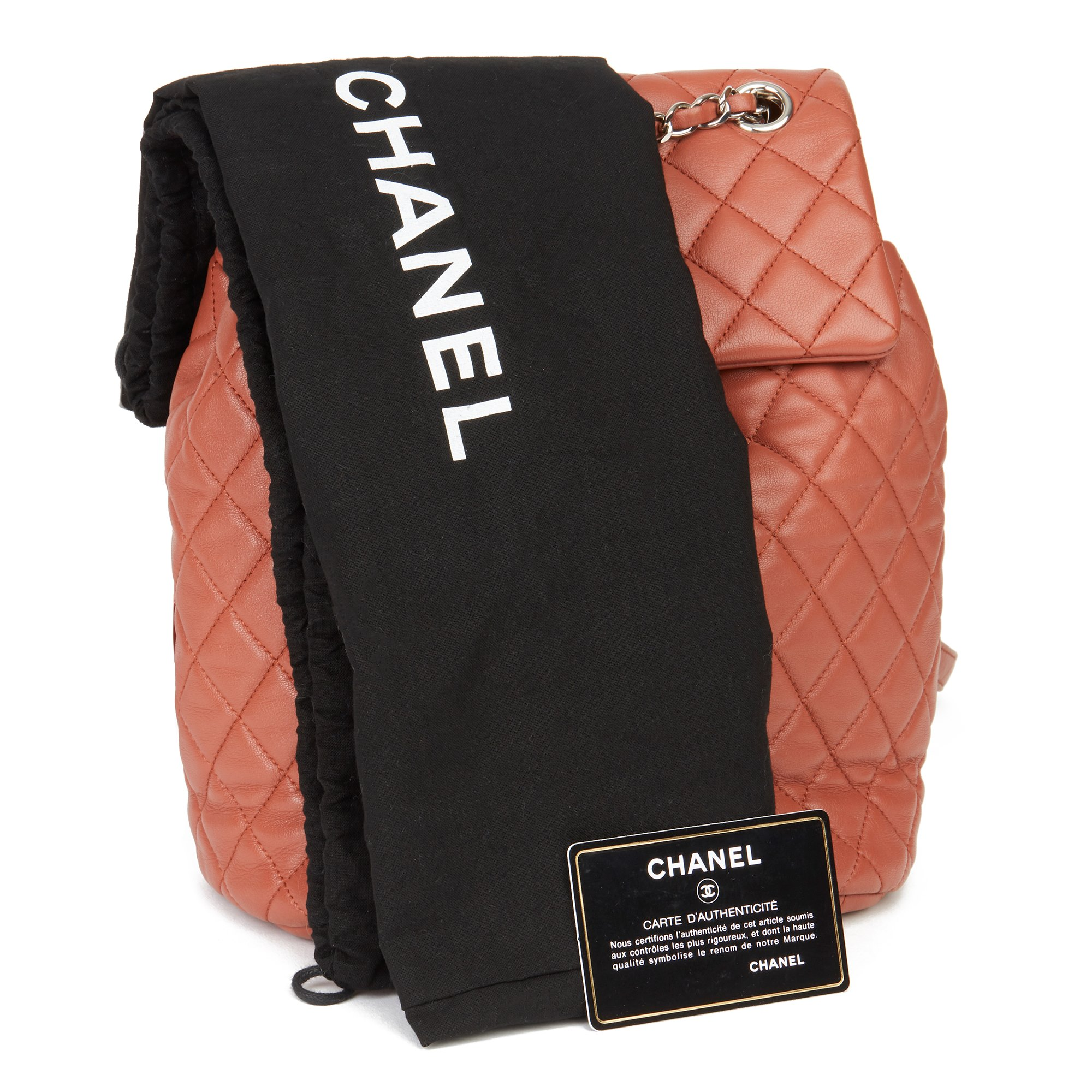 Chanel Brick Brown Quilted Lambskin Small Urban Spirit Backpack