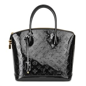 Louis Vuitton Black Patent Vernis Leather Lockit PM