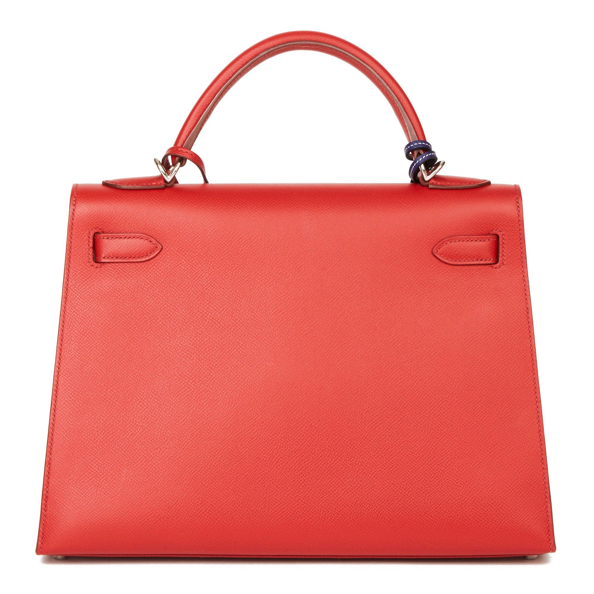 Hermès Rouge Garance Epsom Leather Kelly 32cm Sellier