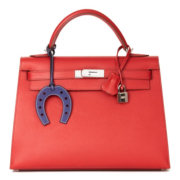 Hermès Rouge Garance Epsom Leather Kelly 32cm Sellier