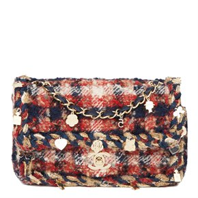 Chanel Multicolour Quilted Tweed Fabric Charm Rectangular Mini Flap Bag