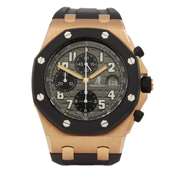 Audemars Piguet Royal Oak Offshore Rubber Clad Chronograph 18K Rose Gold - 25940OK/O/002CA/01