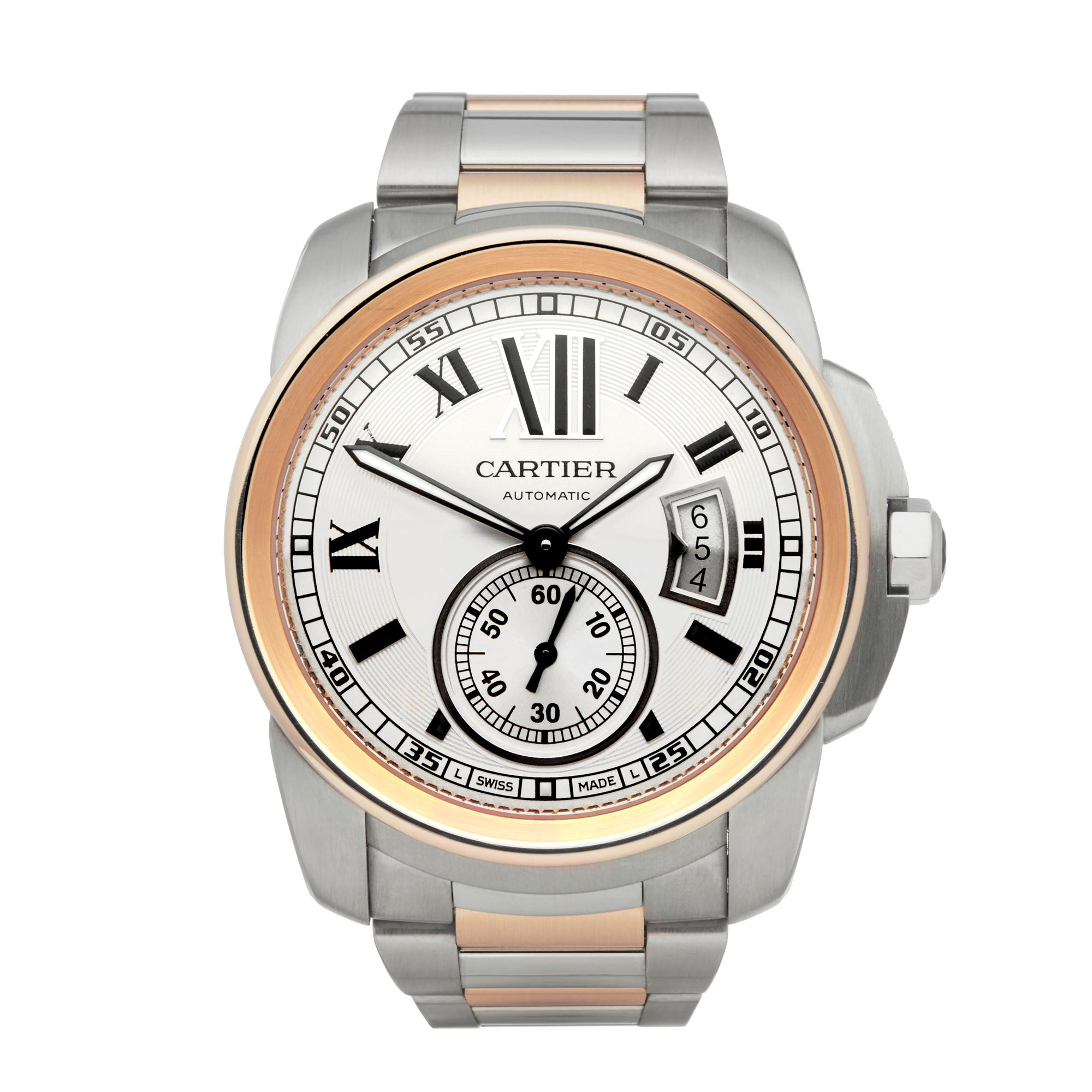 Cartier Calibre Roestvrij Staal & Rose Goud W7100036 or 3389
