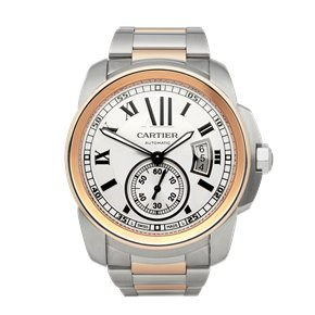 Cartier Calibre Stainless Steel & Rose Gold - W7100036 or 3389