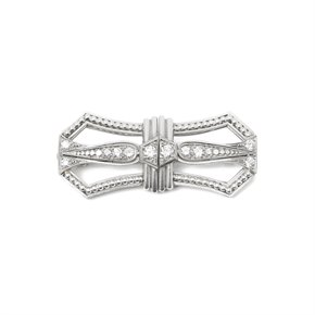 Tiffany & Co. Platinum Diamond Art Deco Vintage Brooch