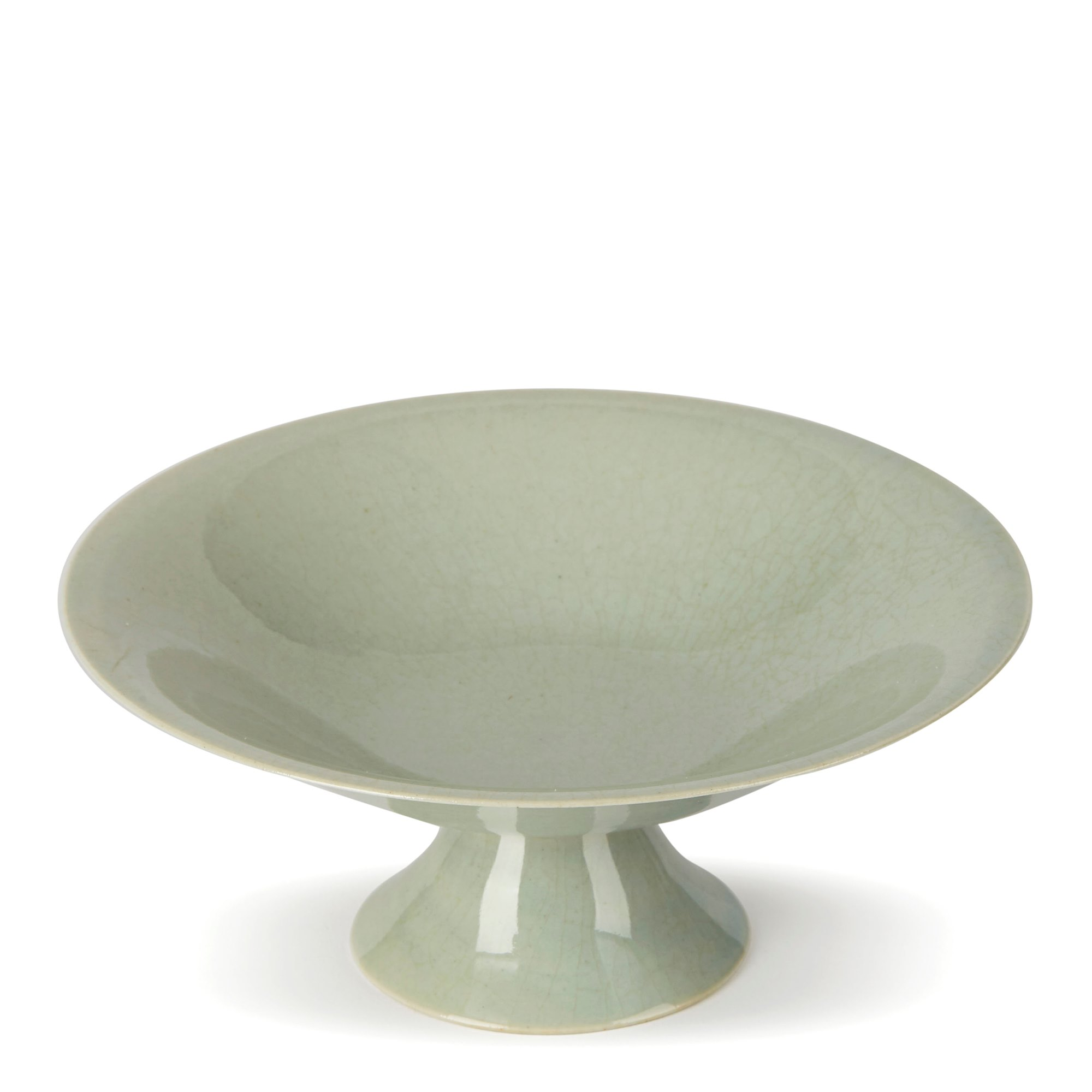 WILLIAM MEHORNAY STUDIO POTTERY CELADON STEM DISH 1974/75 Circa 1974 - 1975