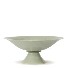 WILLIAM MEHORNAY STUDIO POTTERY CELADON STEM DISH 1974/75