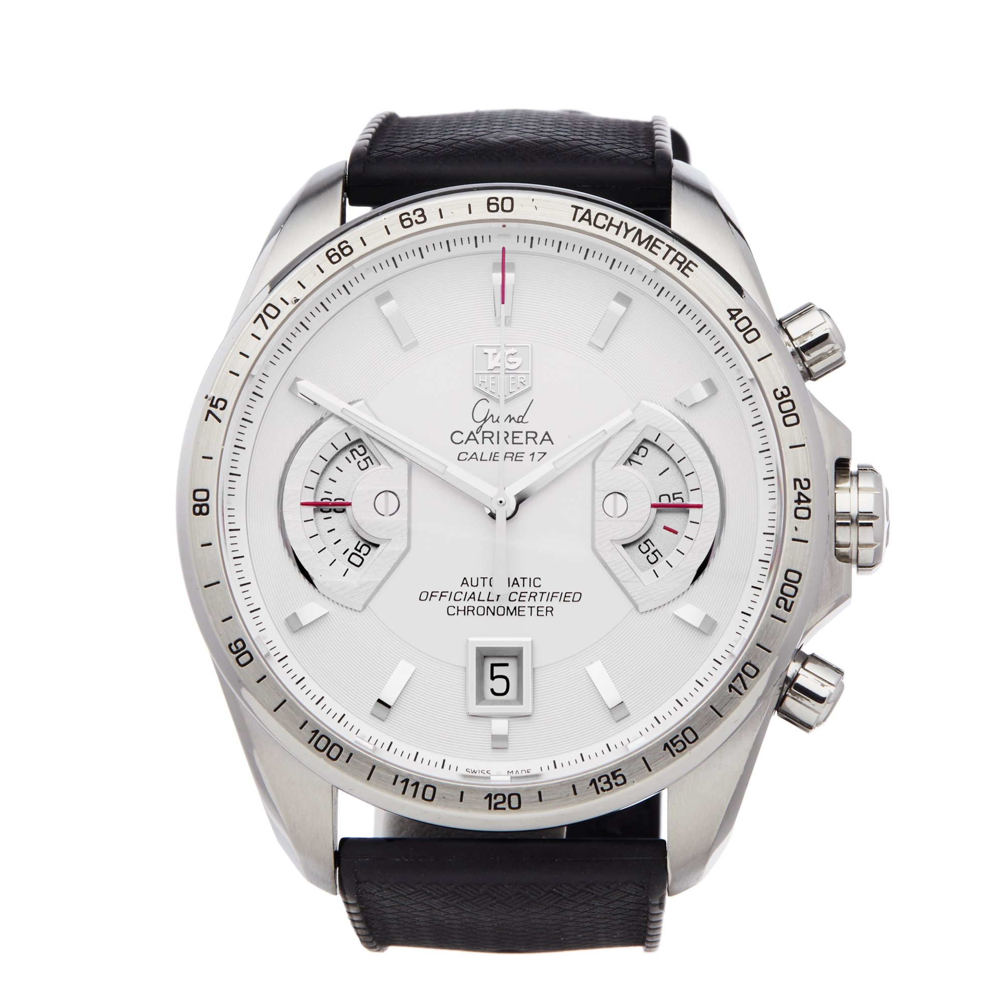 Tag Heuer Grand Carrera Chronograph Roestvrij Staal CAV511B