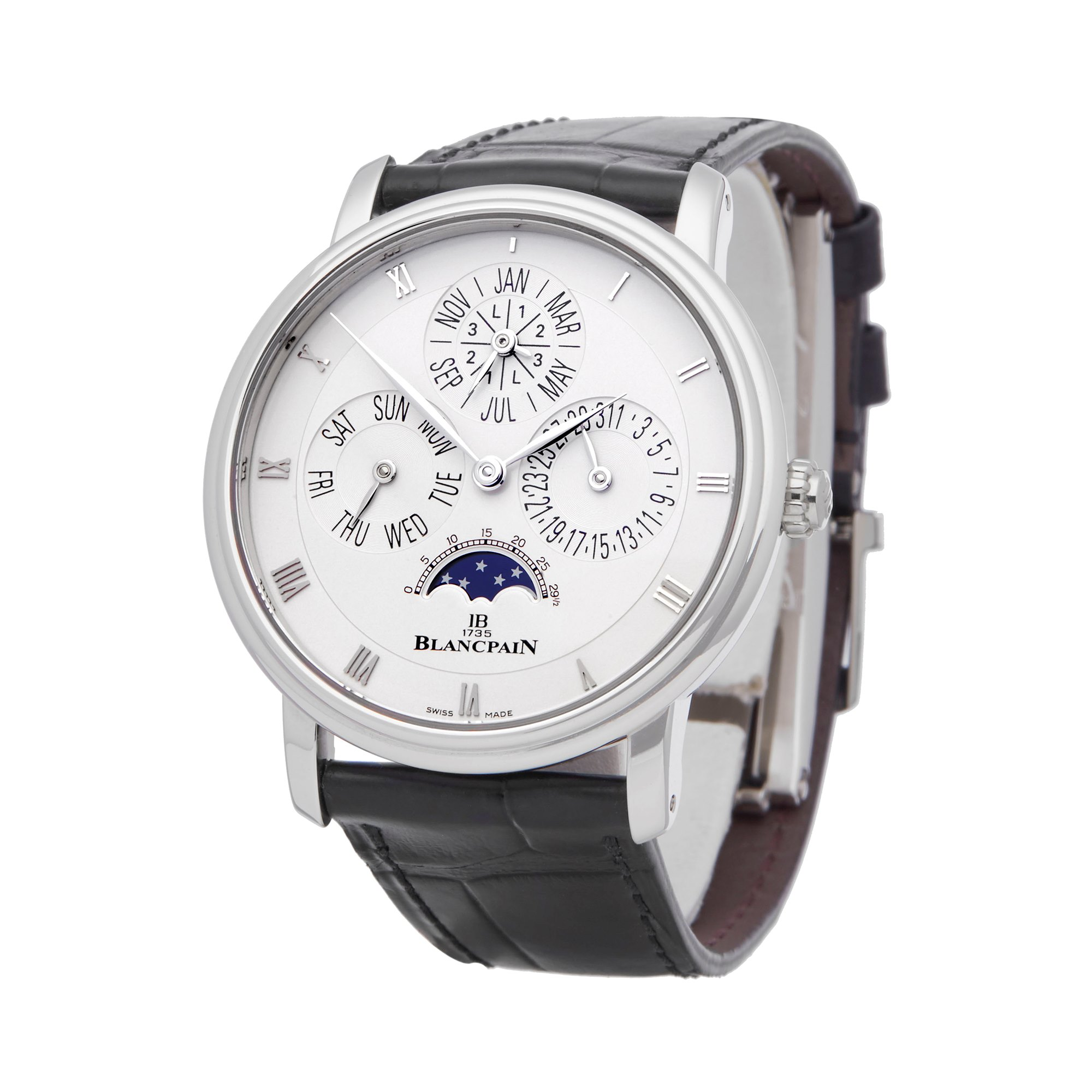 Blancpain Villeret Perpetual Calendar Platinum 6057-3442-55B