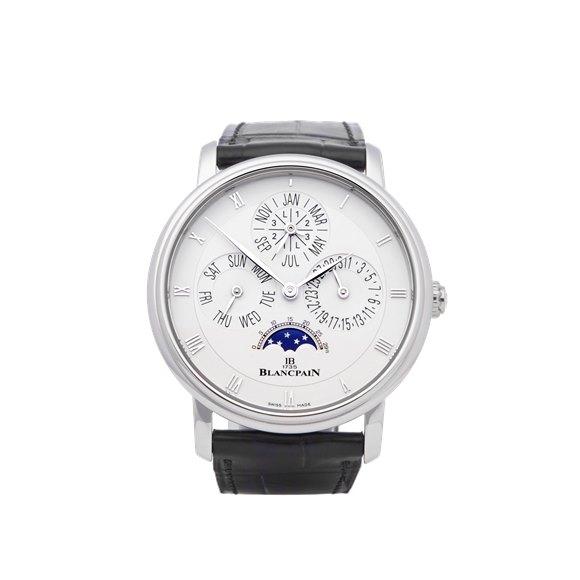 Blancpain Villeret Perpetual Calendar Platinum - 6057-3442-55B