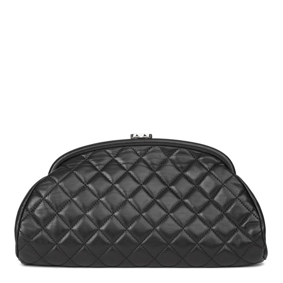 Chanel Black Quilted Lambskin Timeless Clutch Bag
