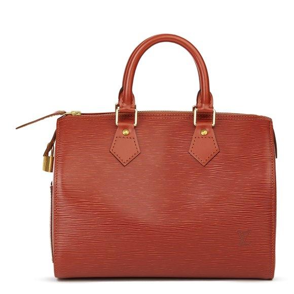 Louis Vuitton Kenyan Fawn Epi Leather Vintage Speedy 25