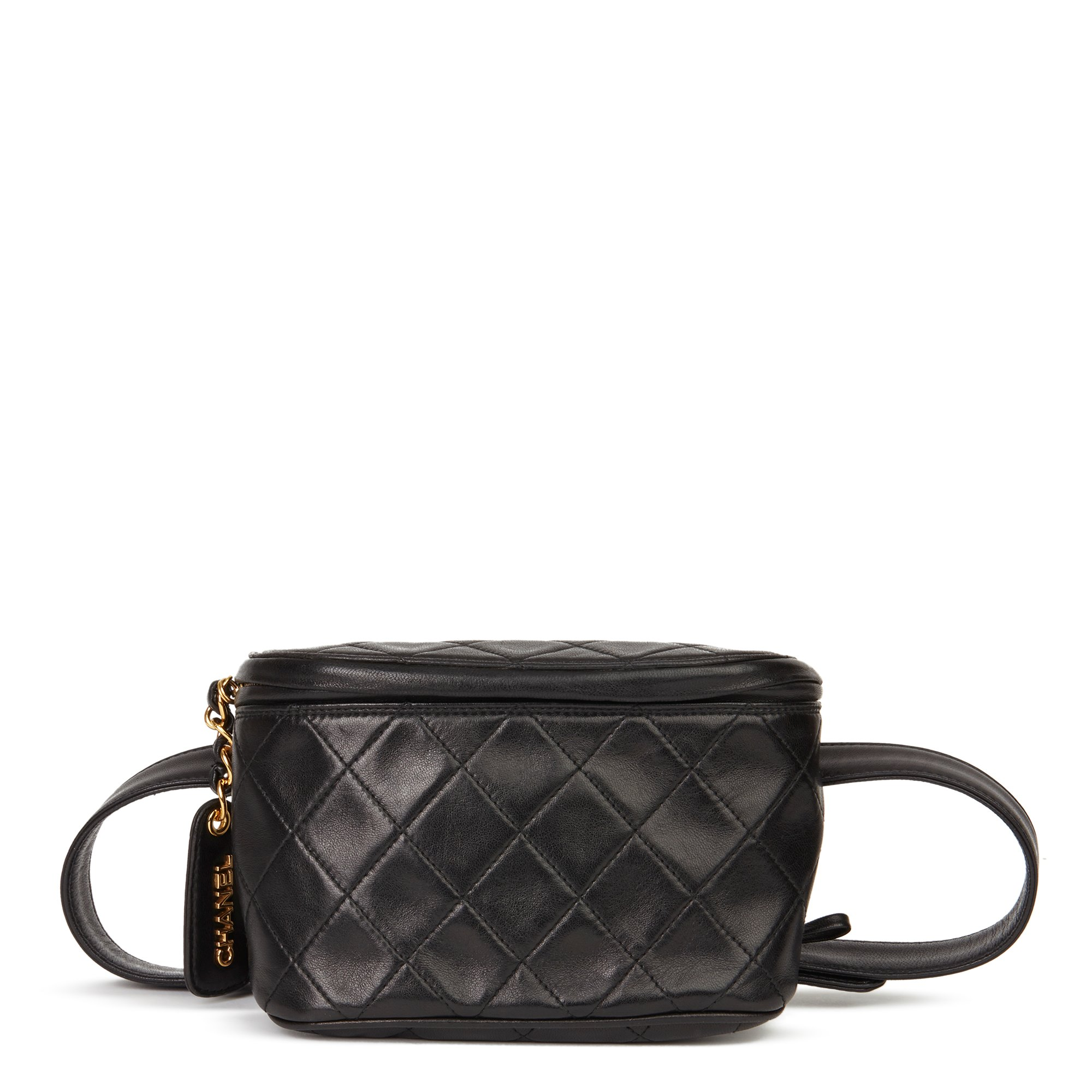 Chanel Black Quilted Lambskin Vintage Timeless Belt Bag