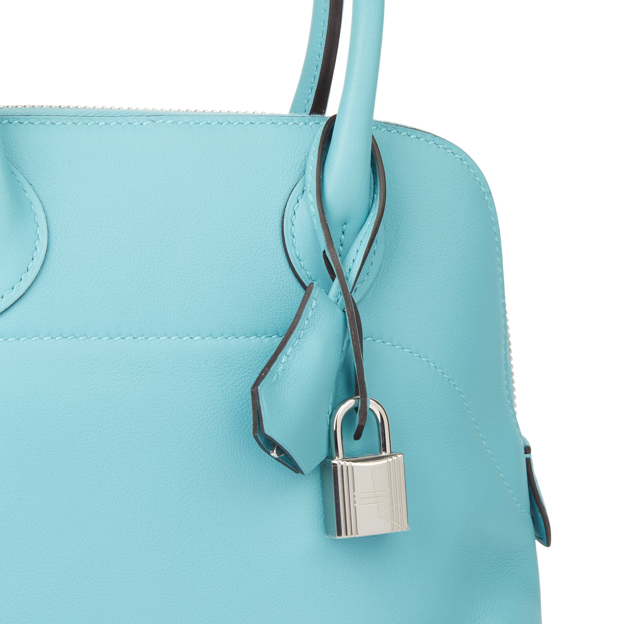 Hermès Blue Atoll Swift Leather Bolide Secret