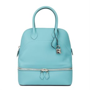 Hermès Blue Atoll Swift Leather Bolide Secret