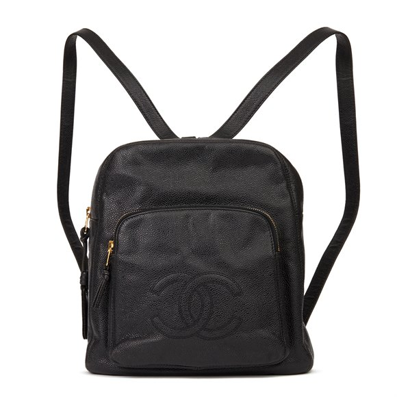 Chanel Black Caviar Leather Vintage Timeless Backpack