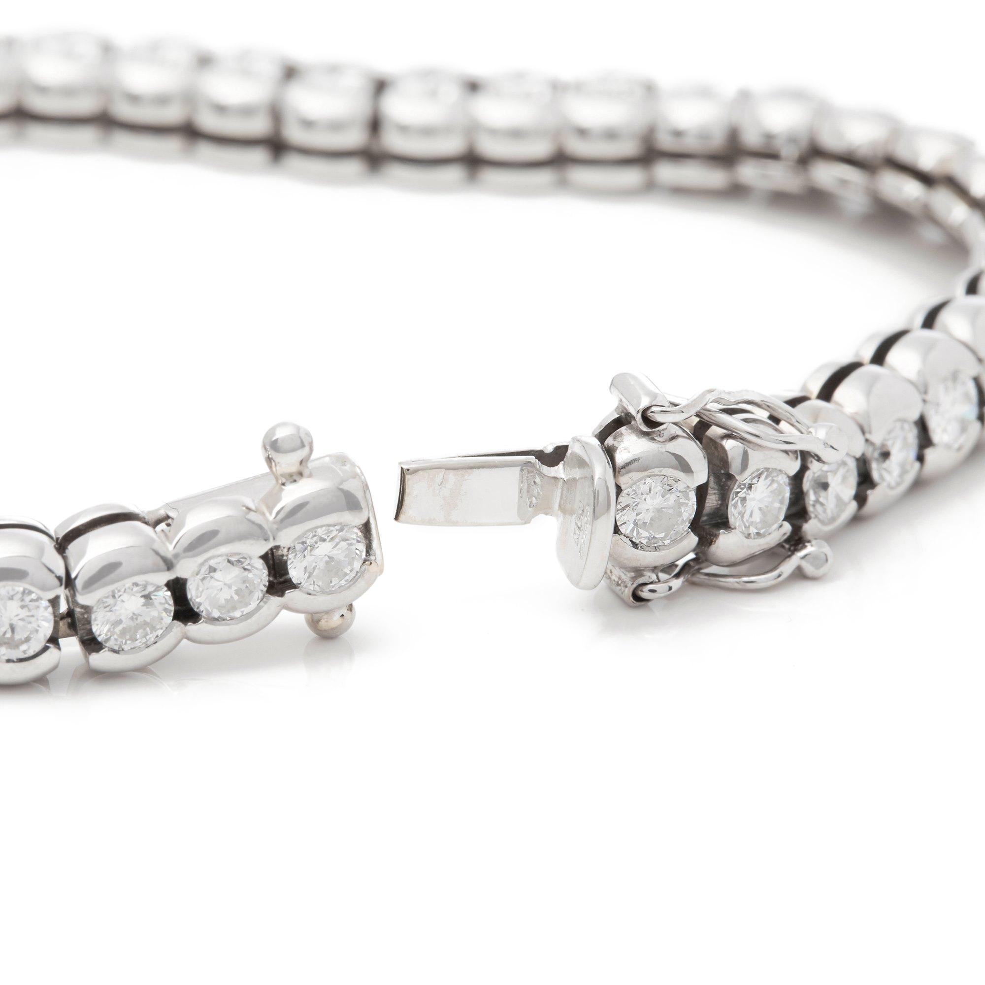 Diamond 18k White Gold 5.50ct Round Brilliant Cut Diamond Bracelet